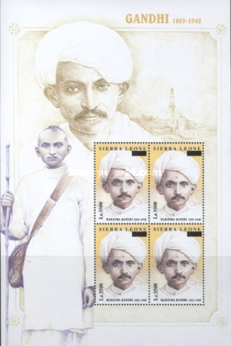 [Mahatma Gandhi, 1869-1948 - Issue of 1998 Surcharged, Typ ]