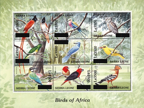 [Birds - Issue of 2000 Surcharged, Typ ]