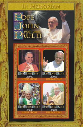 [The 4th Anniversary of the Death of Pope John Paul II, 1920-2005, Typ ]