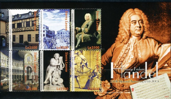 [The 250th Anniversary of the Death of George Frideric Handel, 1685-1759, Typ ]
