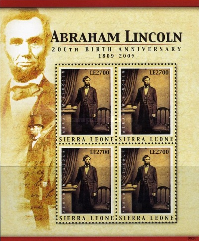 [The 200th Anniversary (2009) of the Birth of Abraham Lincoln, 1809-1865, Typ ]