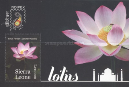[Flowers - International Stamp Exhibition INDIPEX 2011 - New Delhi, India, Typ ]