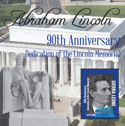 [The 90th Anniversary of the Lincoln Memorial, Typ ]