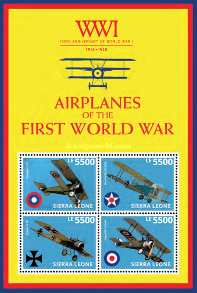 [The 100th Anniversary of the Beginning of World War I - Airplanes of WWI, Typ ]