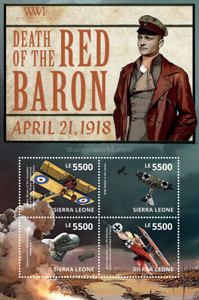 [The 100th Anniversary of the Beginning of World War I - Death of the Red Baron, Typ ]