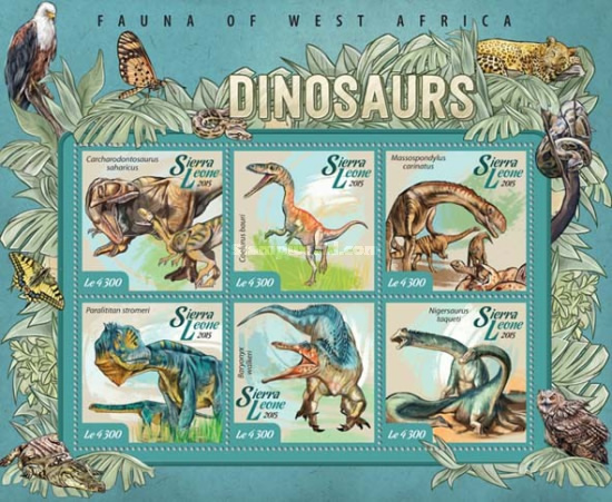 [Fauna of West Africa - Dinosaurs, Typ ]