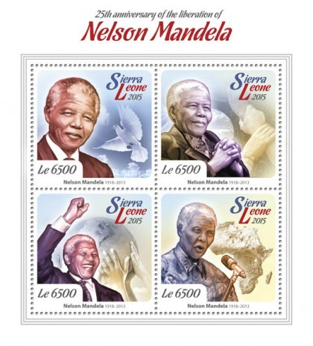 [The 25th Anniversary of the Liberation of Nelson Mandela, 1918-2013, Typ ]