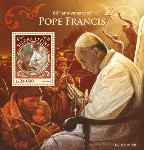 [The 80th Anniversary of the Birth of Pope Francis, Typ ]