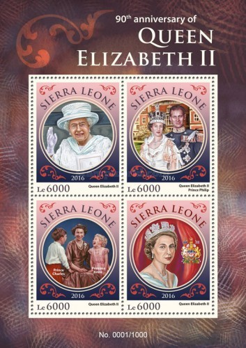 [The 90th Anniversary of the Birth of Queen Elizabeth II, Typ ]