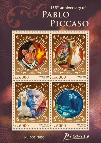 [Paintings - The 135th Anniversary of the Birth of Pablo Picasso, 1881-1973, Typ ]