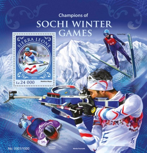 [Sports - Champions of 2014 Winter Olympic Games - Sochi, Russia, Typ ]