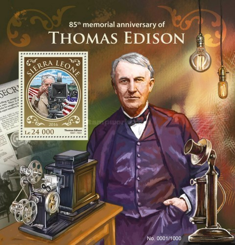 [The 85th Anniversary of the Death of Thomas Edison, 1847-1931, Typ ]