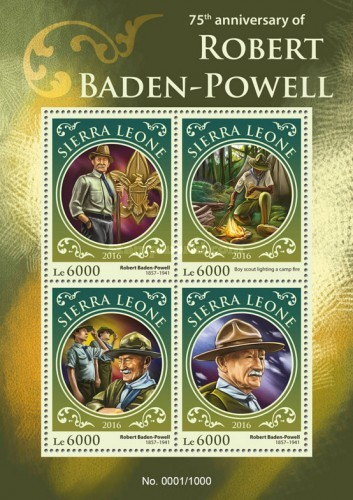 [The 75th Anniversary of the Death of Robert Baden-Powell, 1857-1941, Typ ]