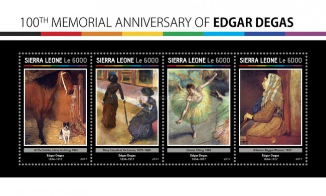 [Paintings - The 100th Anniversary of the Death of Edgar Degas, 1834-1917, Typ ]