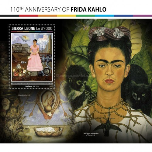 [Paintings - The 110th Anniversary of the Birth of Frida Kahlo, 1907-1954, Typ ]