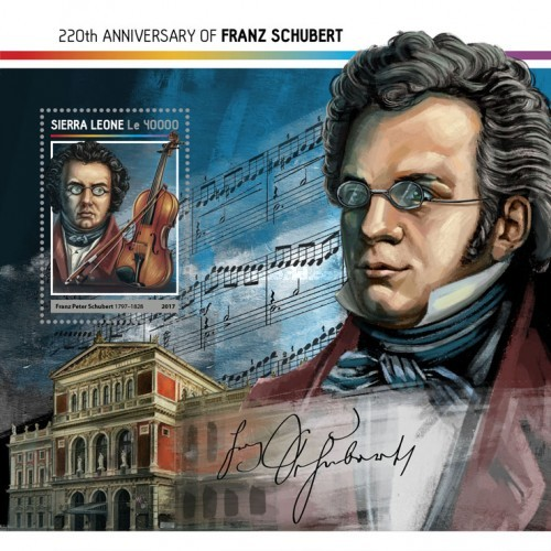 [The 220th Anniversary of the Birth of Franz Schubert, 1797-1828, Typ ]