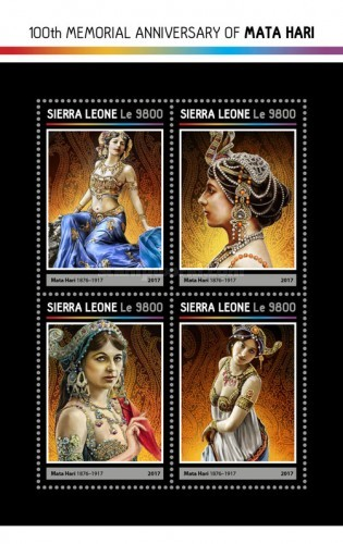 [The 100th Anniversary of the Death of Mata Hari, 1876-1917, Typ ]