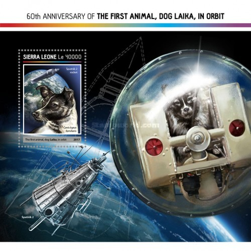 [Space - The 60th Anniversary of the First Animal, Dog Laika, in Orbit, Typ ]