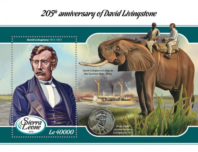 [The 205th Anniversary of the Birth of David Livingstone, 1813-1873, type ]