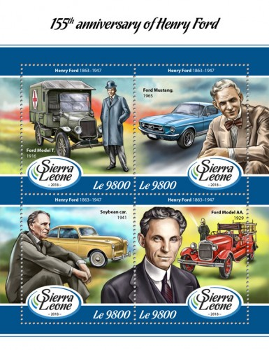 [The 155th Anniversary of the Birth of Henry Ford, 1863-1947, Typ ]