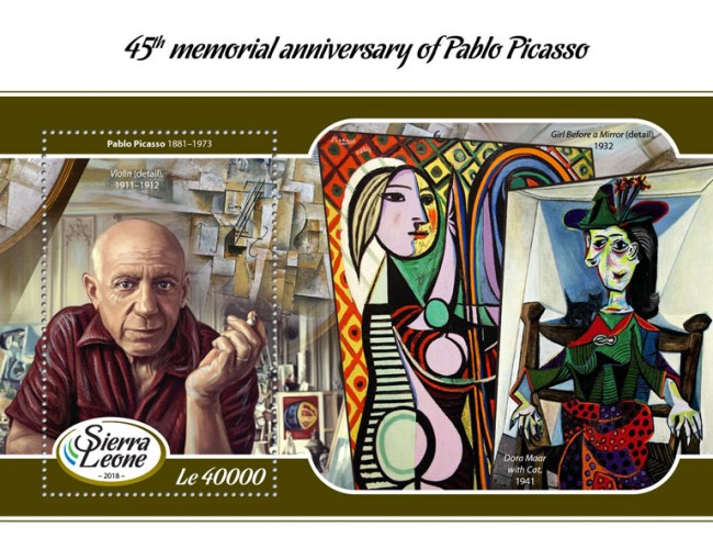 [Paintings - The 45th Anniversary of the Death of Pablo Picasso, 1881-1973, type ]