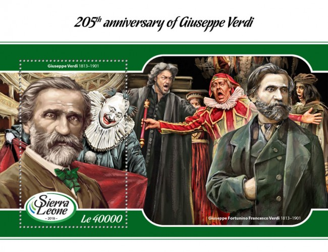 [The 205th Anniversary of the Birth of Giuseppe Verdi, 1813-1901, type ]