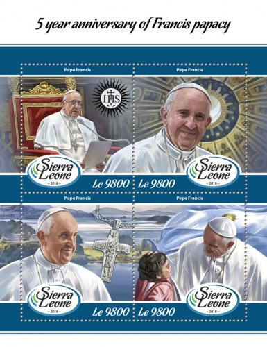 [The 5th Anniversary of Pope Francis' Papacy, type ]