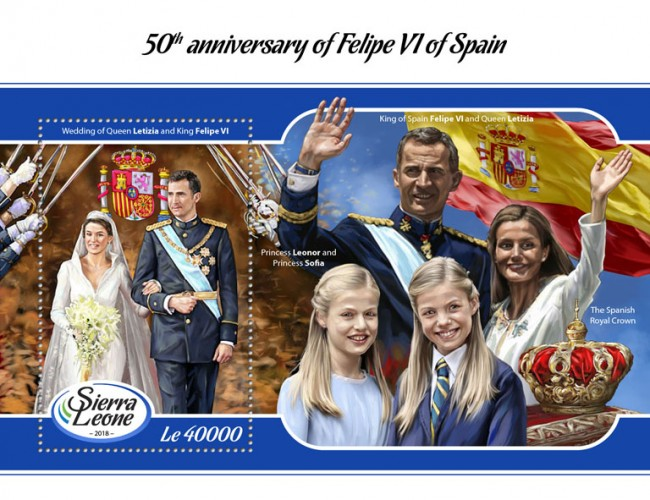 [The 50th Anniversary of the Birth of Felipe VI of Spain, Typ ]