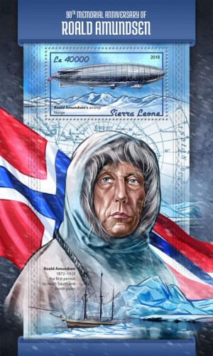 [The 90th Anniversary of the Death of Roald Amundsen, 1872-1928, Typ ]