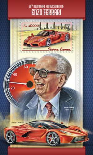 [The 30th Anniversary of the Death of Enzo Ferrari, 1898-1988, Typ ]