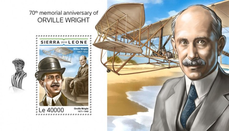 [The 70th Anniversary of the Death of Orville Wright, 1871-1948, Typ ]
