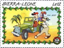 [Christmas - Walt Disney Cartoon Characters with Cars, Typ AET]