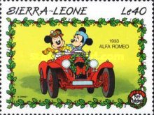 [Christmas - Walt Disney Cartoon Characters with Cars, Typ AEW]