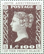 [The 150th Anniversary of the Penny Black, Typ AIE1]