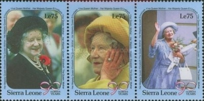 [The 90th Anniversary of the Birth of Queen Elizabeth the Queen Mother, 1900-2002, Typ AJX]
