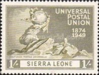 [The 75th Anniversary of Universal Postal Union, type AL]