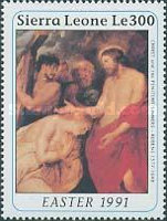 [Easter - The 350th Anniversary (1990) of the Death of Peter Paul Rubens, 1577-1640, Typ AOM]