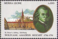 [The 200th Anniversary of the Death of Wolfgang Amadeus Mozart, 1756-1791, Typ ATM]