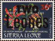 [Issue of 1965 further Surcharged TWO Leones, Typ BX4]