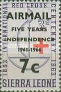 [Airmail - The 5th Anniversary of Independence - Overprinted