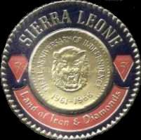 [The 5th Anniversary of Independence - First Sierra Leone Gold Coinage Commemoration, Typ CS]