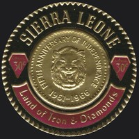 [Airmail - The 5th Anniversary of Independence - First Sierra Leone Gold Coinage Commemoration, Typ CS1]