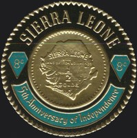 [The 5th Anniversary of Independence - First Sierra Leone Gold Coinage Commemoration, Typ CT]