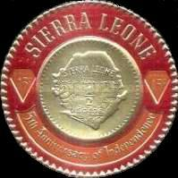 [Airmail - The 5th Anniversary of Independence - First Sierra Leone Gold Coinage Commemoration, Typ CT1]