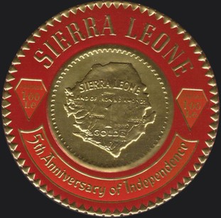 [The 5th Anniversary of Independence - First Sierra Leone Gold Coinage Commemoration, Typ CV]