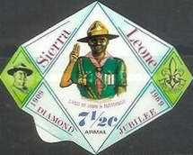 [Airmail - The 60th Anniversary of Boy Scouts in Sierra Leone, Typ DR]
