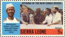 [The 70th Anniversary of the Birth of President Siaka Stevens, 1905-1988 and New Congo Bridge Opening, Typ EE]
