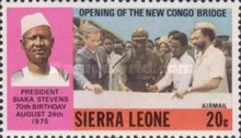 [The 70th Anniversary of the Birth of President Siaka Stevens, 1905-1988 and New Congo Bridge Opening, Typ EE1]