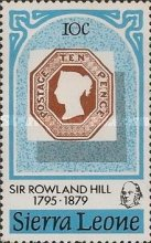 [The 100th Anniversary of the Death of Sir Rowland Hill, 1795-1879, Typ EV]
