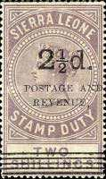 """[Stamp Duty Stamps Surcharged & Overprinted """"POSTAGE AND - REVENUE"""" -  5 Types of Overprint, type F18]"""